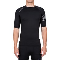 Volcom Mens Surf Solid Short-Sleeve Rashguard Top Medium Black New w/tags