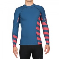 Volcom Mens Surf Lefty Neo Long-Sleeve Rashguard Wetsuit Top Medium Navy New
