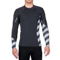 Volcom Mens Surf Lefty Neo Long-Sleeve Rashguard Wetsuit Top Medium Charred New