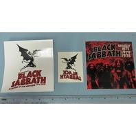 Black Sabbath 2006 Promotional 2 Sticker Temp Tattoo Set New Old Stock Flawless
