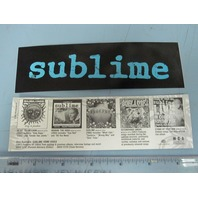 Sublime 1999 Anthology Promotional Sticker Flawless Condition New Old Stock