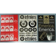 ES Etnies Emerica skateboard Vintage 2002 3 diecut sticker set New Old Stock