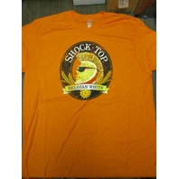 Shock Top Ale Beer Anheuser Busch Hanes tee-shirt X-Large New Old Stock Flawless