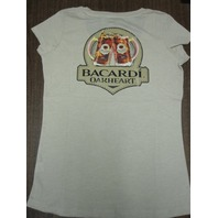 Bacardi Spiced Oakheart Rum Cotton tee-shirt Womens Med New Old Stock Flawless