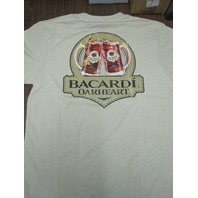 Bacardi Spiced Oakheart Rum Cotton tee-shirt Mens Medium New Old Stock Flawless