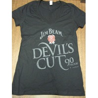 Jim Beam Devil's Cut Whiskey Cotton tee-shirt Womens Med New Old Stock Flawless