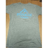 Pinnacle Vodka Grey Heather tee-shirt Womens X-Large New Old Stock Flawless
