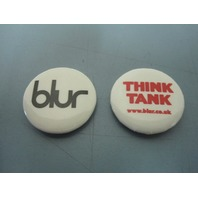 Blur 2003 Think Tank Capitol Records promo 2 button/badge set New Old Stock