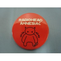 Radiohead 2001 Amnesiac Capitol Records promotional button/badge New Old Stock