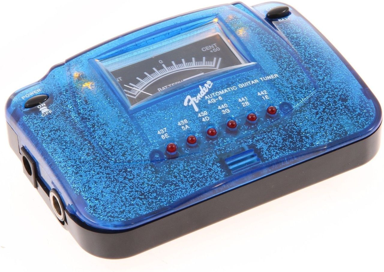 fender ag6 guitar tuner blue sparkle brand new free shipping streetsoundsnyc. Black Bedroom Furniture Sets. Home Design Ideas