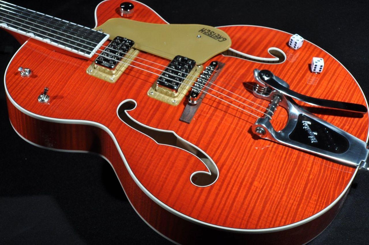 gretsch g6120ssu nv brian setzer nashville guitar orange flame new edition hardshell included. Black Bedroom Furniture Sets. Home Design Ideas