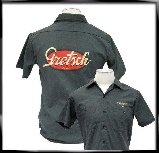 gretsch vintage logo workshirt large streetsoundsnyc