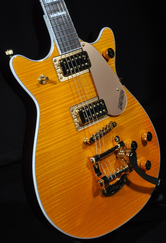 gretsch g5445t fm ssfsr amber flamed dc electromatic guitar w hardshell case streetsoundsnyc. Black Bedroom Furniture Sets. Home Design Ideas
