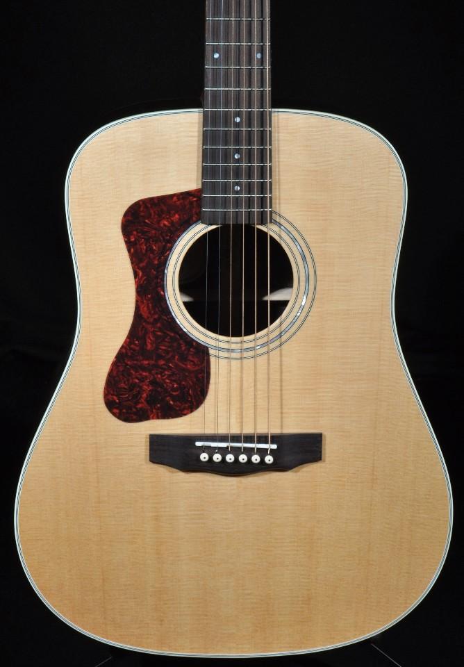 guild d 150l lefty dreadnought acoustic guitar natural streetsoundsnyc. Black Bedroom Furniture Sets. Home Design Ideas