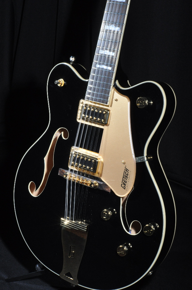 gretsch g5422g 12 black w gold hardware 12 string new edition electromatic dou streetsoundsnyc. Black Bedroom Furniture Sets. Home Design Ideas