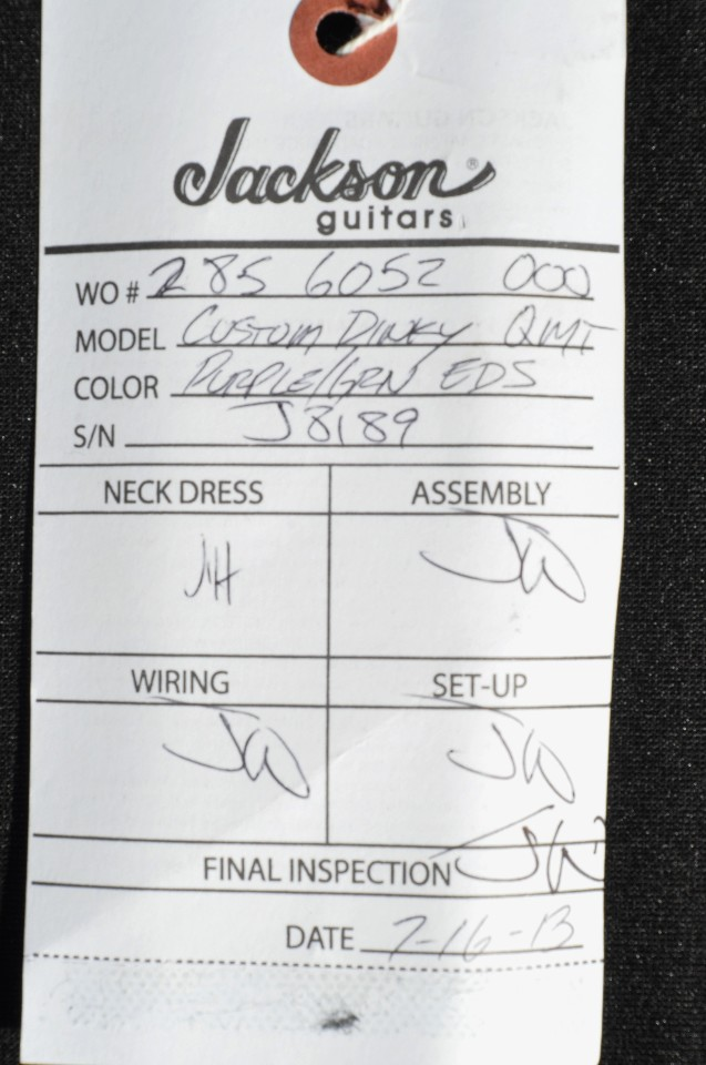 jackson usa custom shop dinky h quilt maple top purple green eds jackson usa custom shop dinky 2h quilt maple top purple green eds guitar