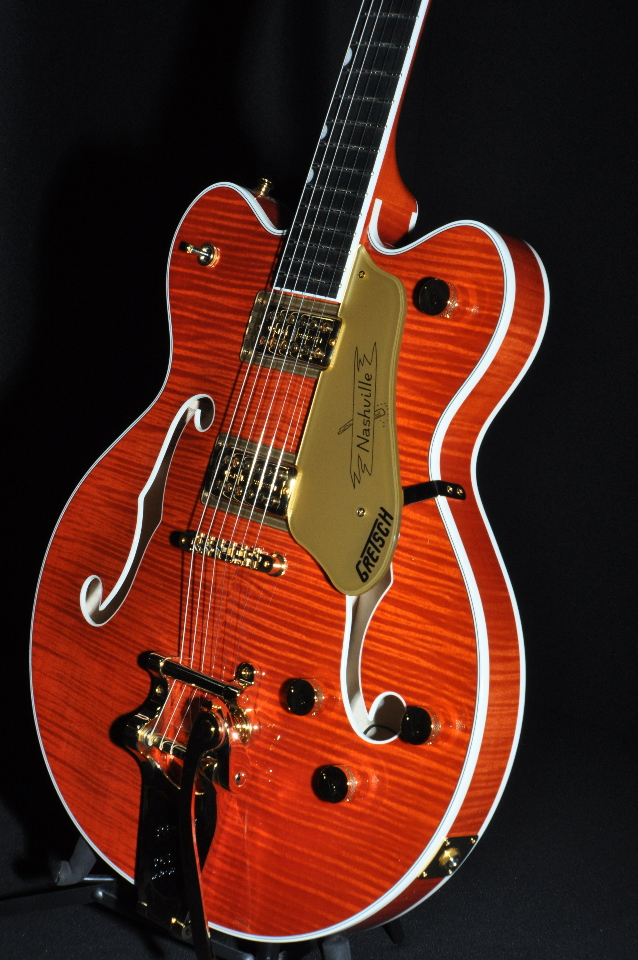 gretsch g6620tfm players edition center block guitar orange flame streetsoundsnyc. Black Bedroom Furniture Sets. Home Design Ideas
