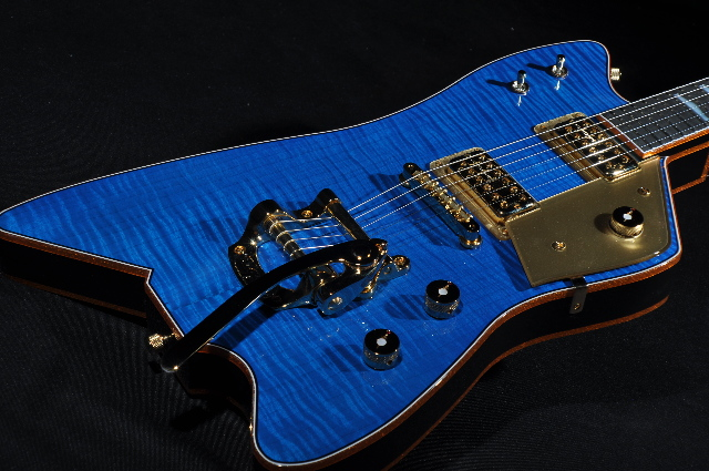 gretsch usa custom shop billy bo falcon trans blue flame top guitar ebay. Black Bedroom Furniture Sets. Home Design Ideas