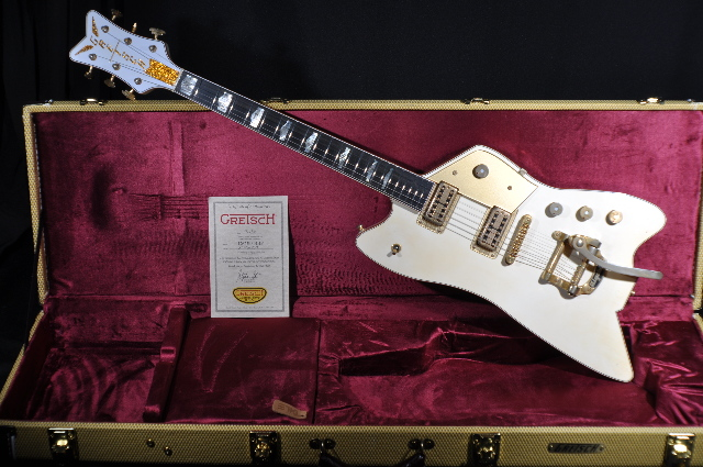 gretsch usa custom shop billy bo falcon white heavy relic guitar ebay. Black Bedroom Furniture Sets. Home Design Ideas