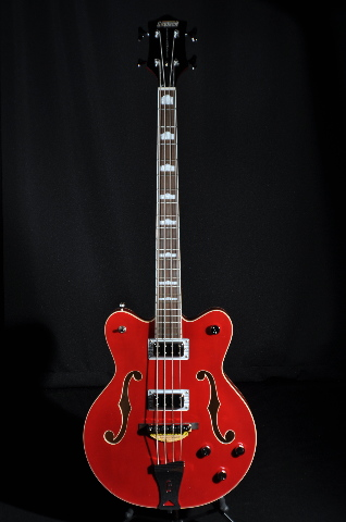 gretsch g5442bdc mint electromatic hollow body short scale bass trans red ebay. Black Bedroom Furniture Sets. Home Design Ideas