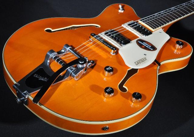 gretsch g5622t electromatic center block guitar vintage orange streetsoundsnyc