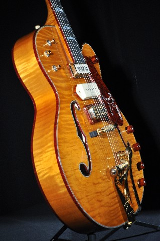 gretsch usa custom shop triple falcon burled walnut guitar g6136cs tribute ebay. Black Bedroom Furniture Sets. Home Design Ideas
