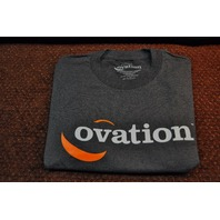 FENDER OVATION LOGO TEE SHIRT CHARCOAL SMALL