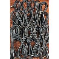 15 PACK 6' STRAIGHT-RT ANGLE GUITAR CABLE