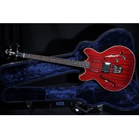 GUILD STARFIRE BASS CHERRY RED HARDSHELL CASE INCLUDED