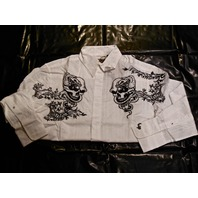 "FENDER CUSTOM SHOP ""MAYHEM"" LS SHIRT WHITE SMALL"