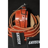 GRETSCH  STRAPS  3- SKINNY  LEATHER   WALNUT   NEW