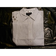 "FENDER CUSTOM SHOP ""OVER THE RAILS"" LS SHIRT WHITE  MEDIUM"