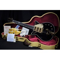 GRETSCH USA CUSTOM SHOP BLACK TRIPLE JET 3-PICKUP DOUBLE CUTAWAY GUITAR