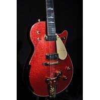 GRETSCH USA CUSTOM SHOP RED SPARKLE BLACK PENGUIN GUITAR