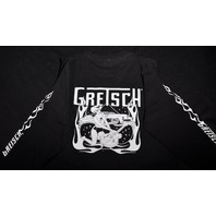 GRETSCH FIRE WOMAN TEE  SHIRT LONG SLEEVE BLACK MEDIUM