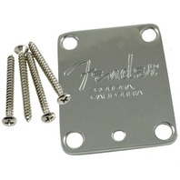 Fender Chrome Neck Plate  American Standard Guitar PN 0991445100