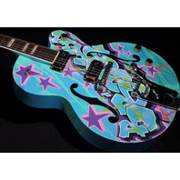 GRETSCH  G6120KB  KAVES BROOKLYN #9/12 '' MADE IN BROOKLYN'' GRAFFITI GUITAR HARDSHELL INCLUDED