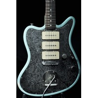 JAMES TRUSSART REVERSE STEELMASTER OCEAN BLUE RELIC GUITAR