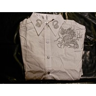 "FENDER CUSTOM SHOP ""SPRING DRAGON"" LS SHIRT WHITE  SMALL"