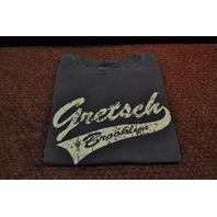 GRETSCH BROOKLYN TAIL TEE SHIRT FADED BLACK XX-LARGE