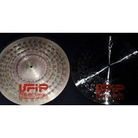 "UFiP Natural Series 16"" Light Hi-Hat Cymbals FREE WORLDWIDE SHIPPING"