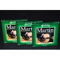 MARTIN M170 EXTRA LIGHT 80/20 (3-PACK) BRONZE ACOUSTIC GUITAR STRINGS
