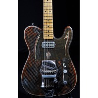 JAMES TRUSSART RUST O MATIC  STEELCASTER WITH B-16 BIGSBY GUITAR SN:13198
