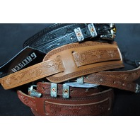 Gretsch Tooled Leather Guitar Straps Assorted 3-Pack