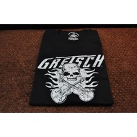 GRETSCH FLAMING FALCONS TEE  SHIRT BLACK MEDIUM