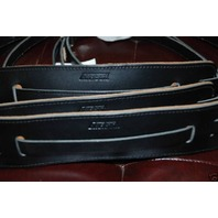 GRETSCH STRAPS 3-SKINNY VINTAGE LEATHER  BLACK  NEW