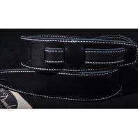 EL DORADO DURANGO SUAVE BLACK/BLACK WHITE THREAD GUITAR STRAP