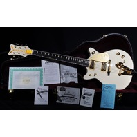 GRETSCH FSR DOUBLE CUTAWAY WHITE PENGUIN G6134T-1962 LIMITED EDITION