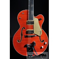 GRETSCH G6120SSU NV  BRIAN SETZER NASHVILLE GUITAR ORANGE FLAME NEW EDITION HARDSHELL INCLUDED