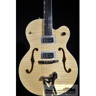 GRETSCH G6120SH BLONDE FLAMED BRIAN SETZER HOT ROD GUITAR NEW EDITION HARDSHELL INCLUDED